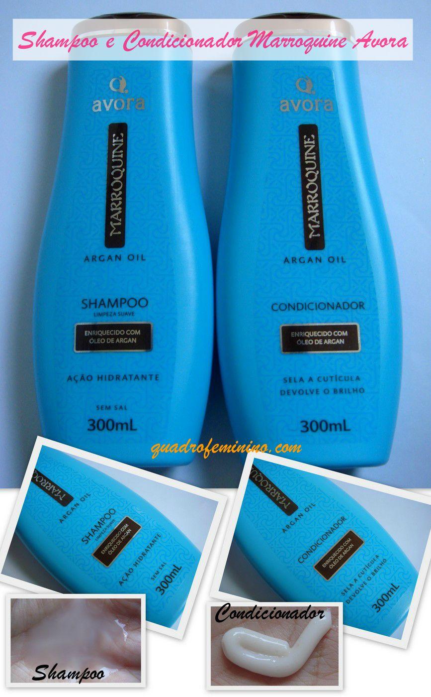Shampoo e Condicionador Marroquine ArganOil Avora