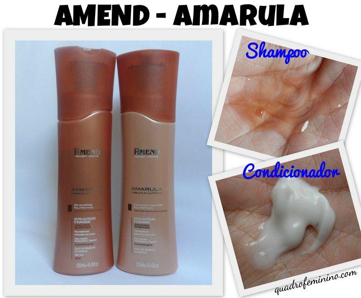 Shampoo e Condicionador Amend - Amarula.