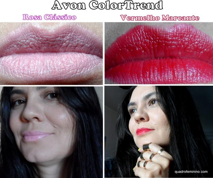 Super Lápis para Lábios Avon Color Trend Rosa Clássico e Vermelho Marcante (2)