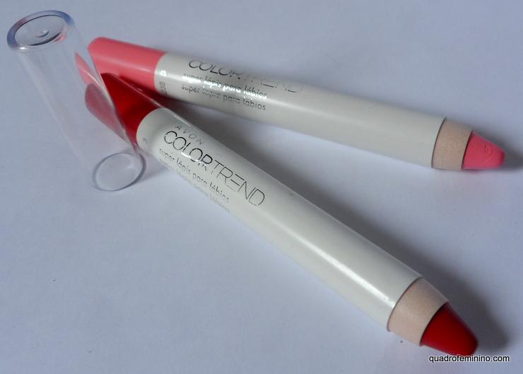 Super Lápis para Lábios Avon Color Trend Rosa Clássico e Vermelho Marcante