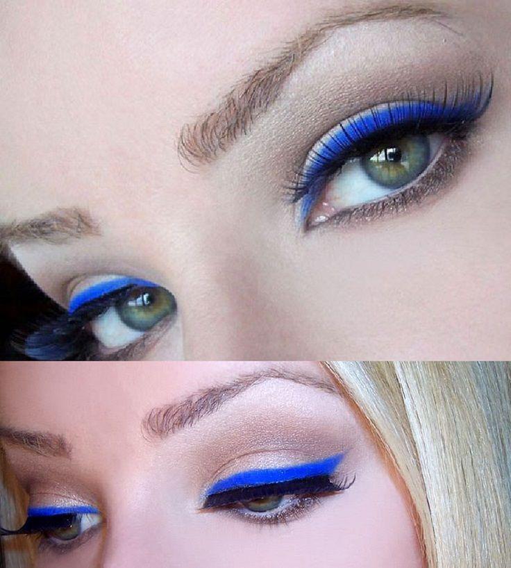Delineado Electric Blue