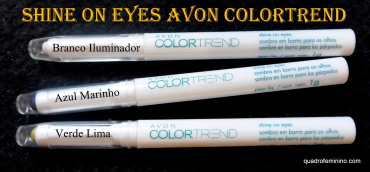 Shine on eyes - Sombra em barra para olhos Avon ColorTrend