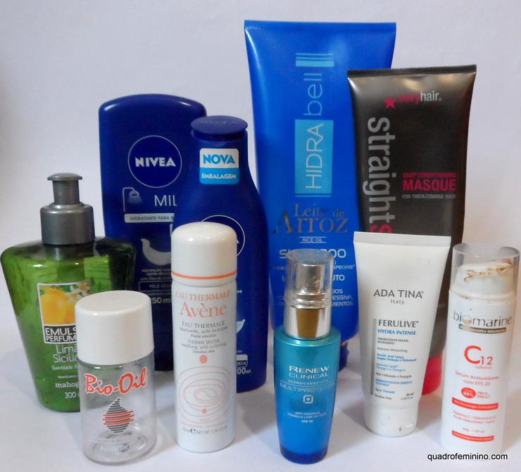 Produtos para cabelo e pele