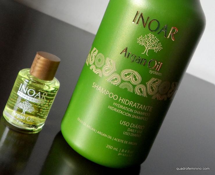 Shampoo Hidratante Argan Oil e Óleo de Argan - Inoar