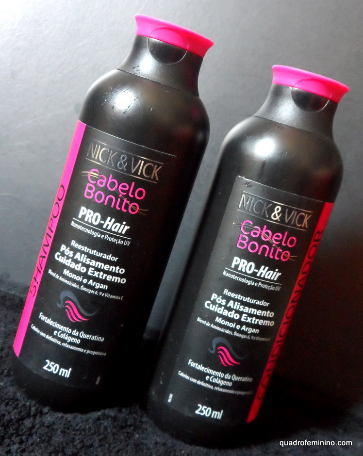 Nick & Vick Cabelo Bonito - Shampoo e Condicionador Pro Hair Reestruturador