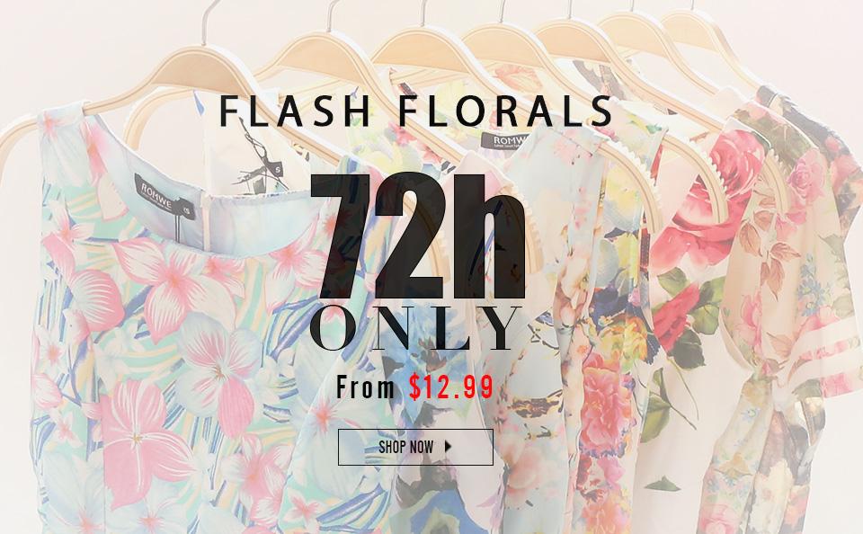 Romwe Sale - Flash Florals