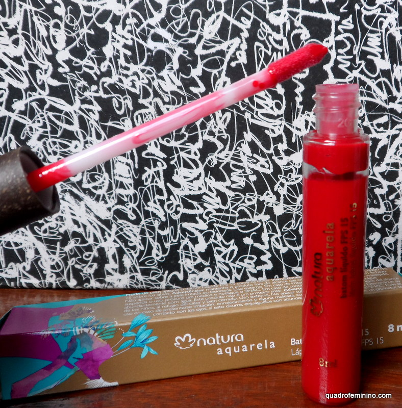 Batom Líquido FPS 15 Natura Aquarela - vermelho 9
