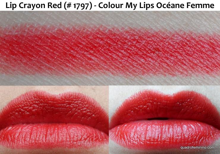Lip Crayon Red – Colour My Lips - Océane Femme