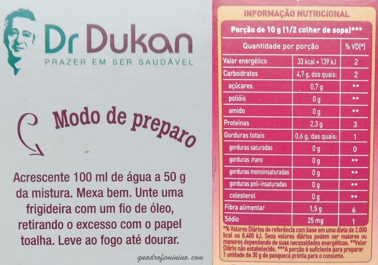 Mistura para panqueca Dr. Dukan