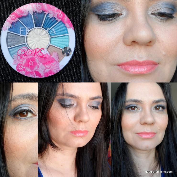 Fenzza Make Up - Ten Palette Soft 02 - tons de azul