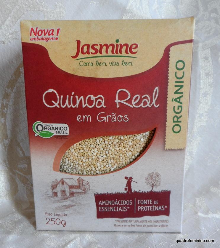Quinoa Real orgânica em grãos da Jasmine