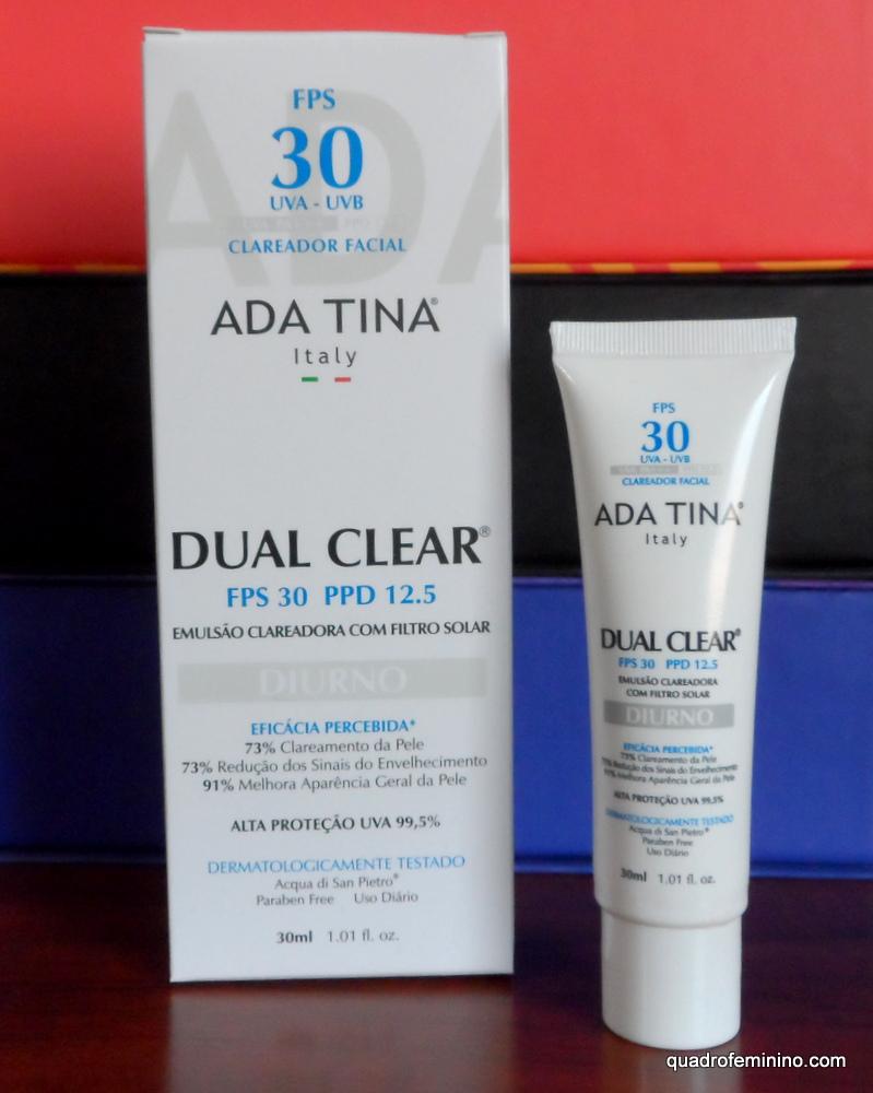 Ada Tina Dual Clear Fps 30 Emulsao Clareadora Facial
