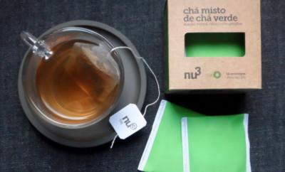Chá misto de chá verde Nu3 - abacaxi, hortelã e gengibre