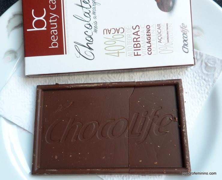 Chocolife - 40 porcento de Cacau e colágeno - Beauty Care