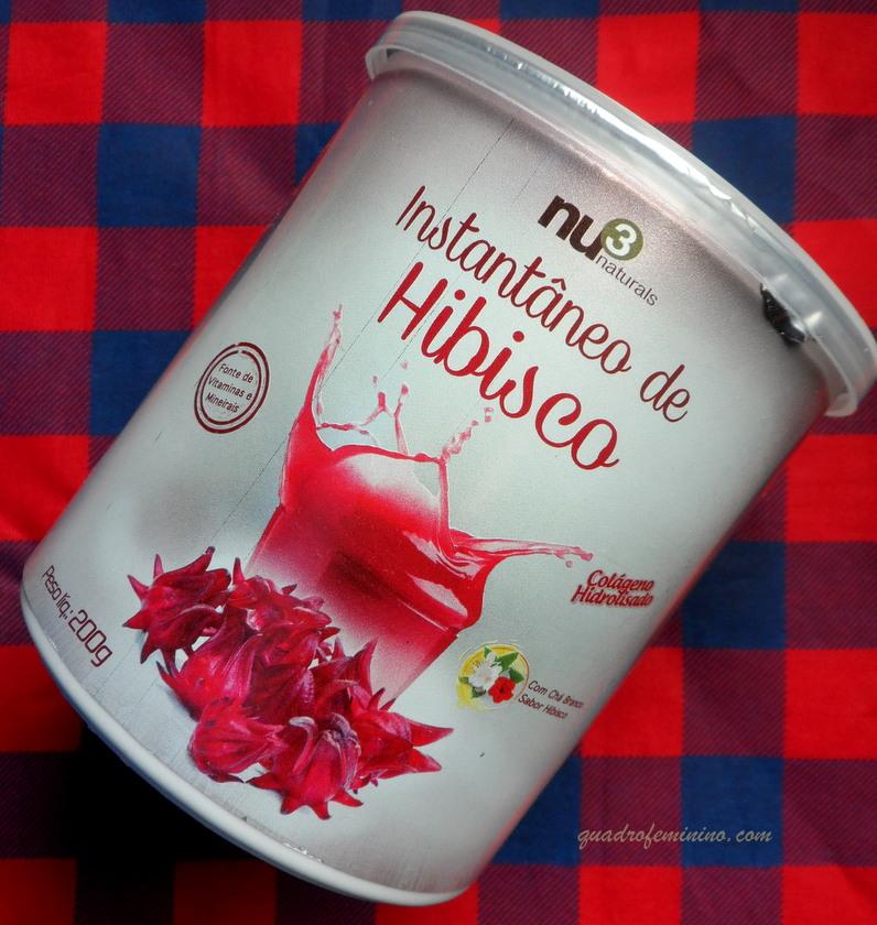 Chá de Hibisco e Colágeno Nu3 Naturals