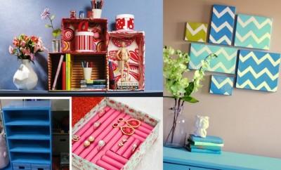 caixas de papel na decoração e organização
