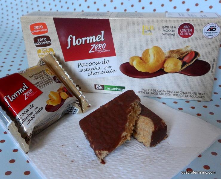 Flormel Zero Paçoca de Castanha com Chocolate