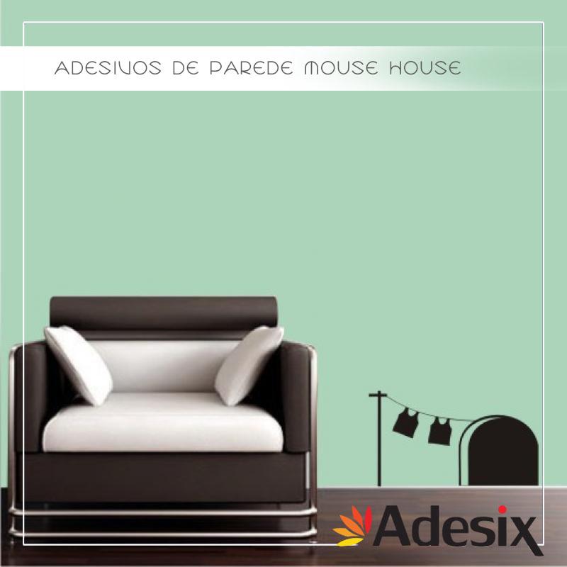 22 ADESIVOS DE PAREDE MOUSE HOUSE