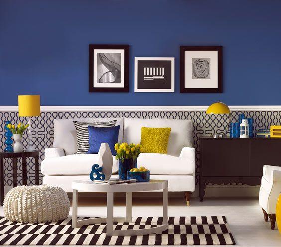 amarelo, azul, preto e branco