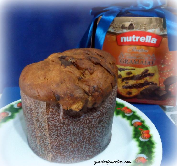 Panettone Nutrella com chocolate de Gramado