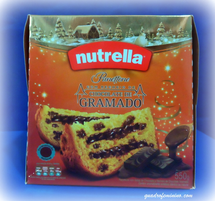 Panettone Nutrella com recheio de chocolate de Gramado