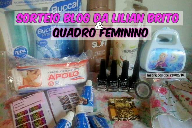 Sorteio - Blog da Lilian Brito e QuadroFeminino