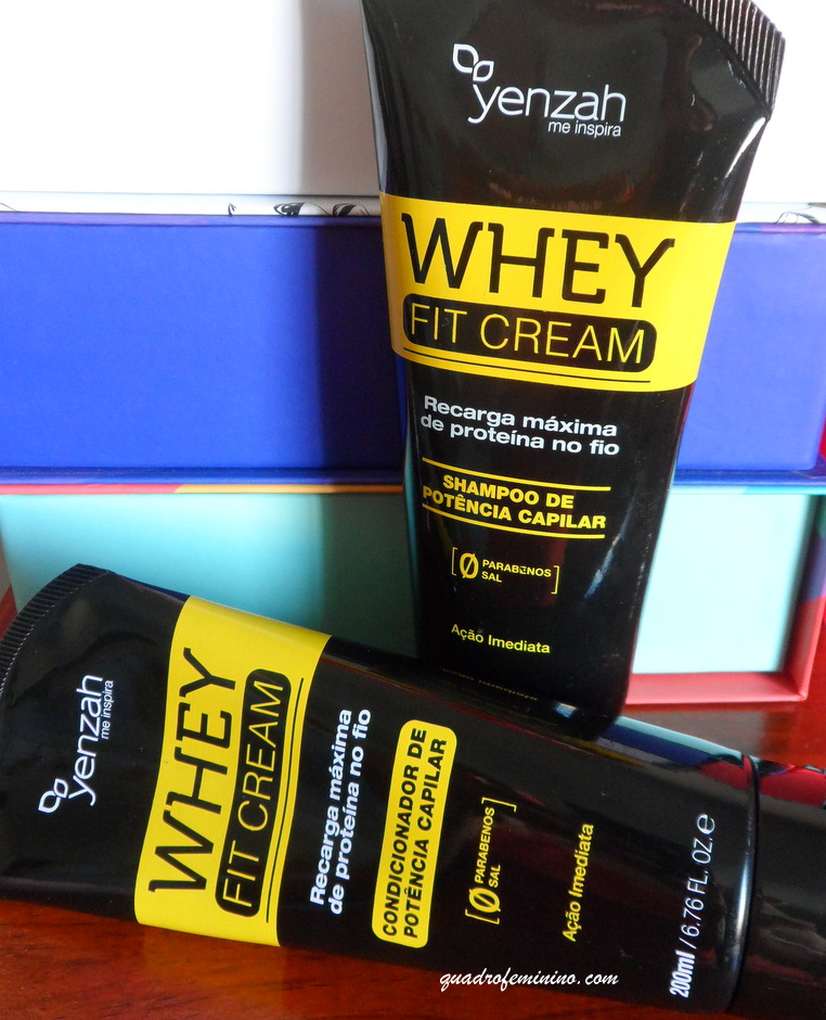 Yenzah - Whey Fit Cream - Shampoo e Condicionador