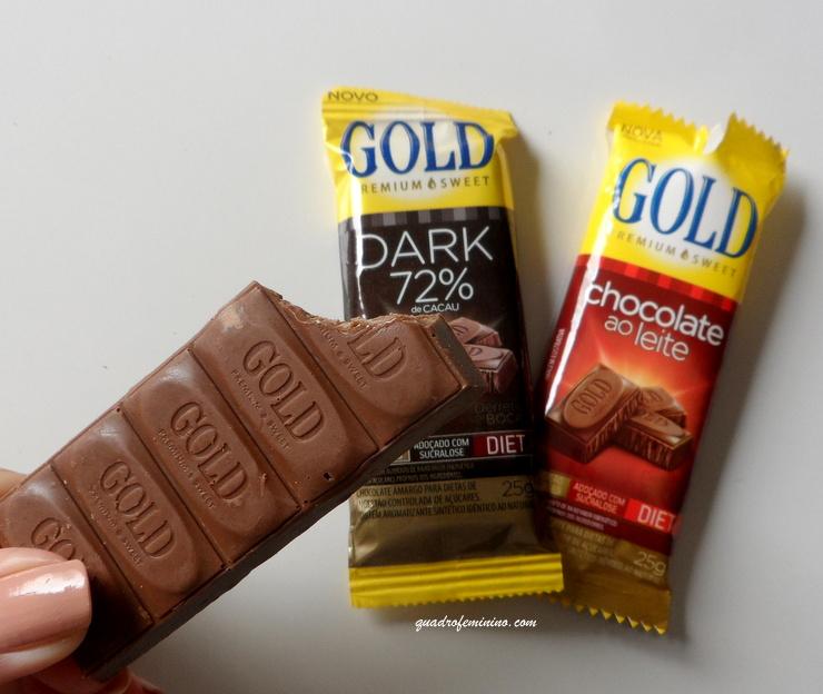 barrinhas de chocolate Gold Premium Sweet - ´Gold Adoçantes