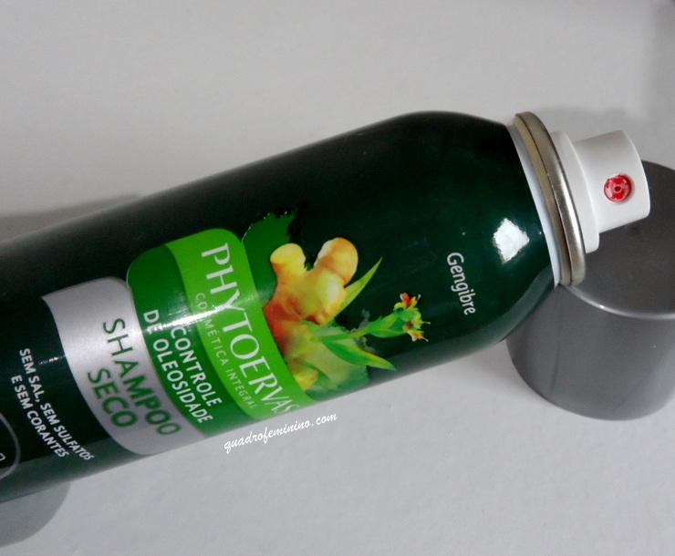 Shampoo Seco Phytoervas Gengibre - Controle da Oleosidade