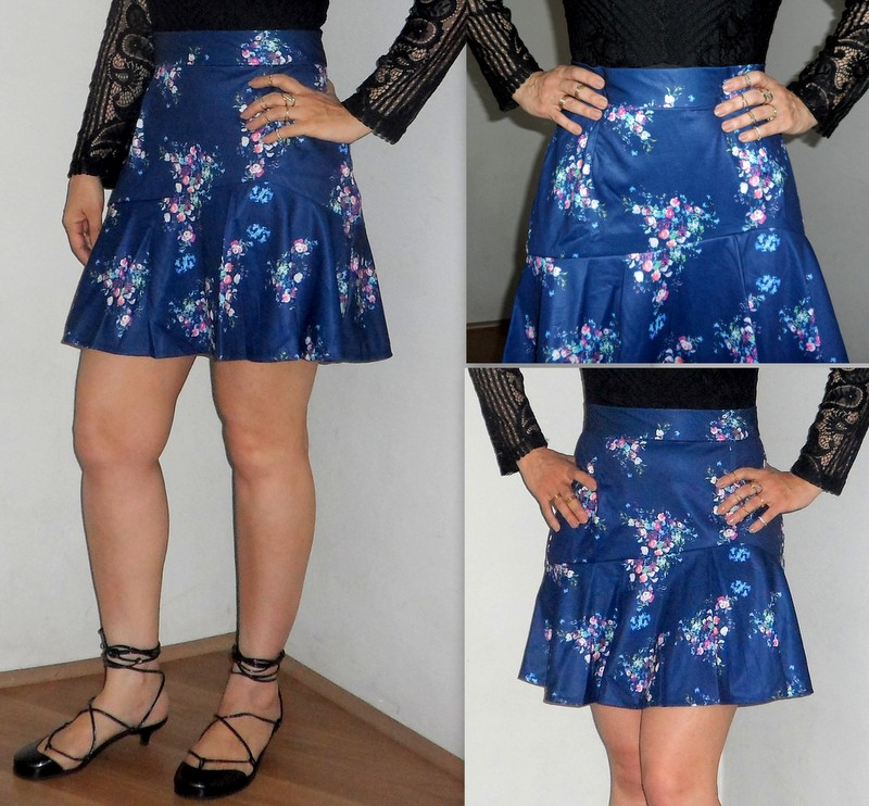 Body Lace Up Preto - Saia Floral - Dresslink