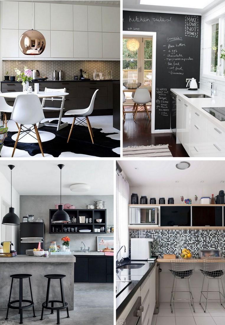 Decoração Preto e Branco - Cozinha