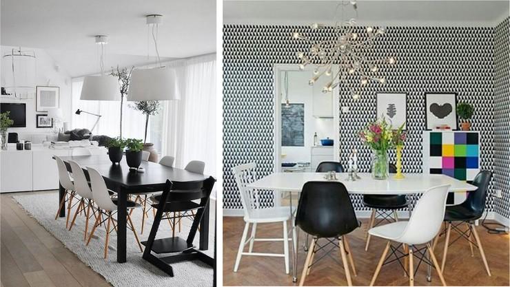 Decoração Preto e Branco - Sala de jantar