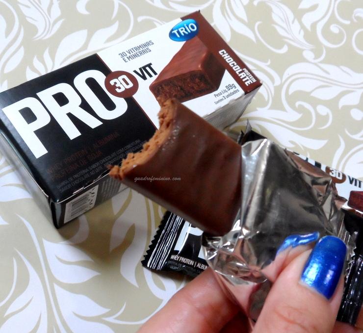 8b08b0d75 Barras de proteínas Pro30vit e barras de cereais zero Trio são boas