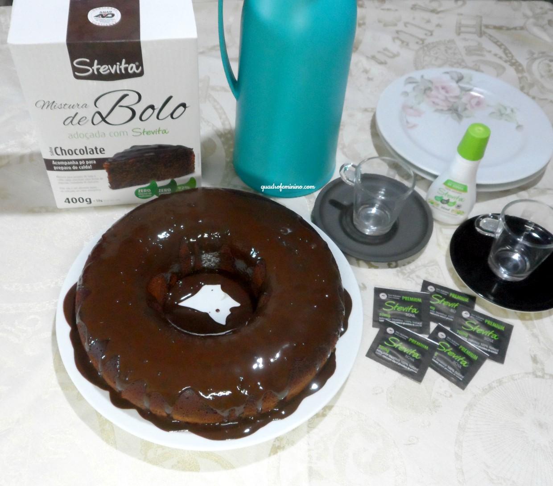 Bolo de chocolate diet Stevita