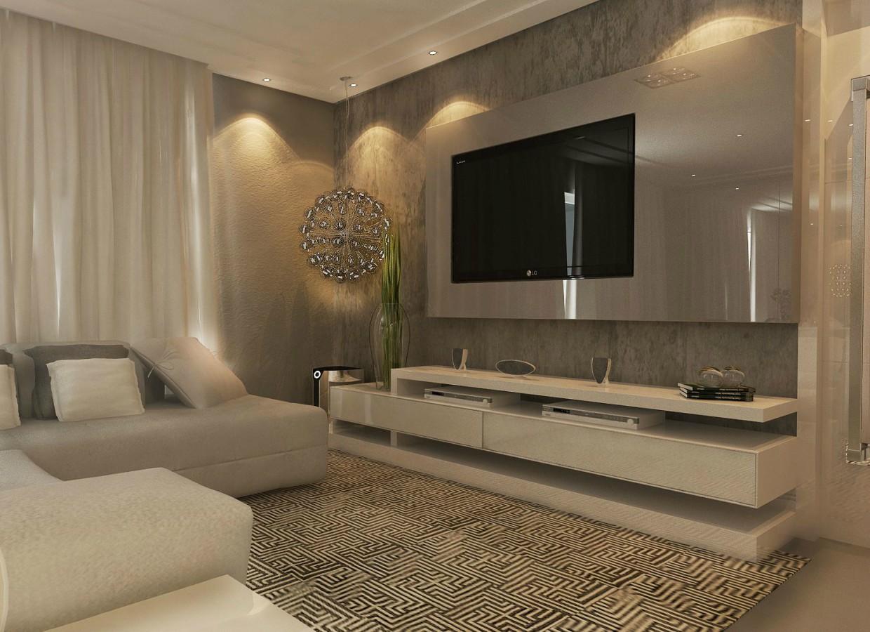 Utilizando o painel para TV em qualquer decoraç u00e3o -> Decoração Para Sala De Tv Com Painel