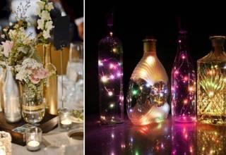 garrafas na decoração
